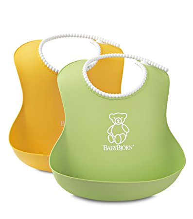 BabyBjorn Bib 2 Pack - Green/Yellow