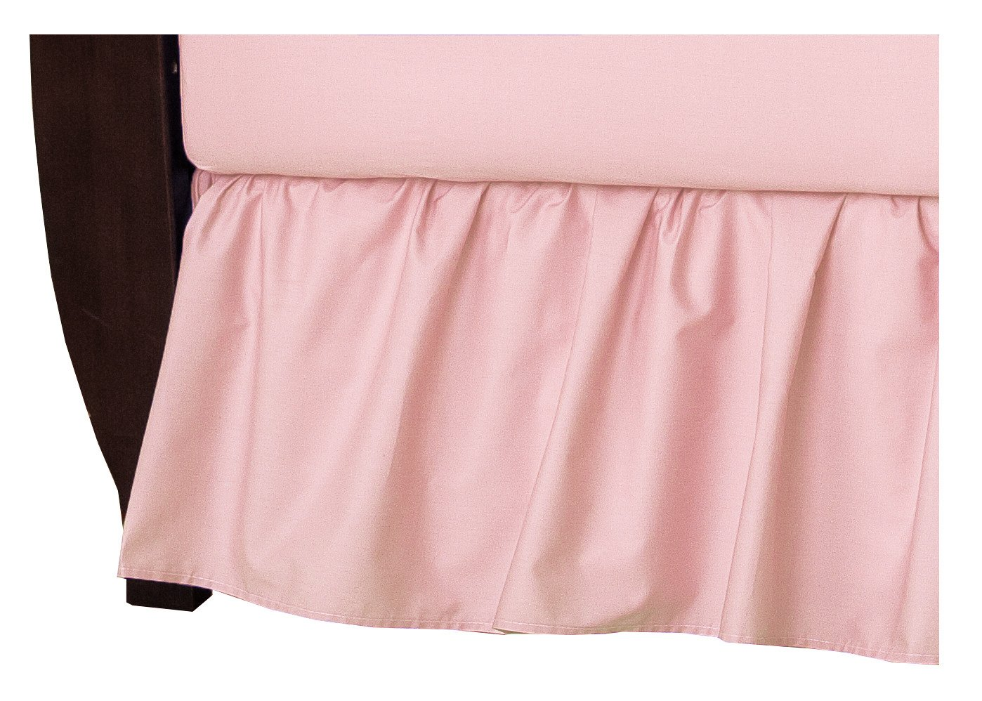 American Baby Company Percale Dust Ruffle - Blush