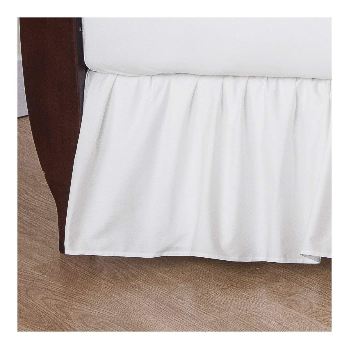American Baby Company Percale Dust Ruffle - White