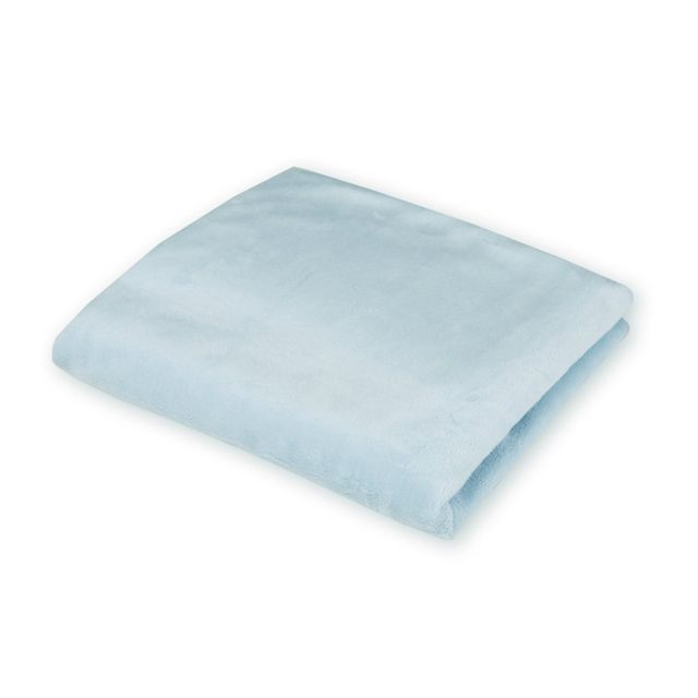 American Baby Company Heavenly Soft Porta Crib Sheet - Blue