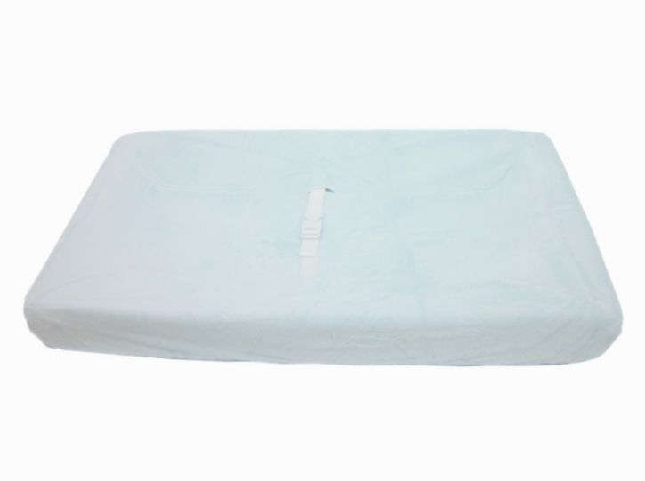 American Baby Company Heavenly Soft Contour Pad Cover, Blue