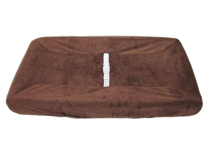 American Baby Company Heavenly Soft Contour Pad Cover, Chocolate