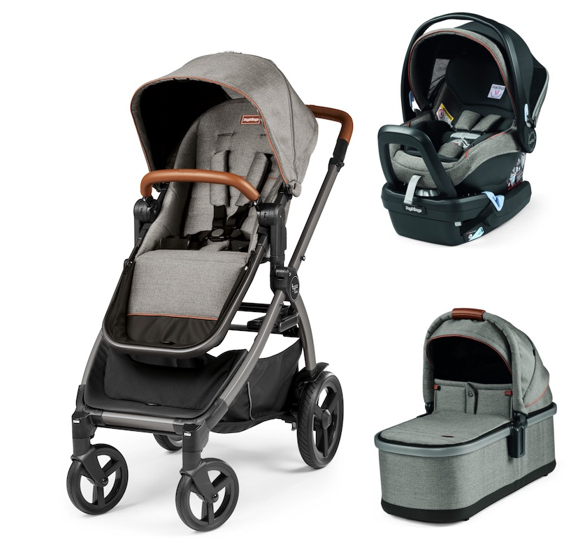 Agio Z4 Stroller and Bassinet Travel System - Agio Grey