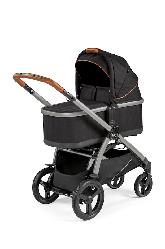 Agio Z4 Stroller and Bassinet - Agio Black