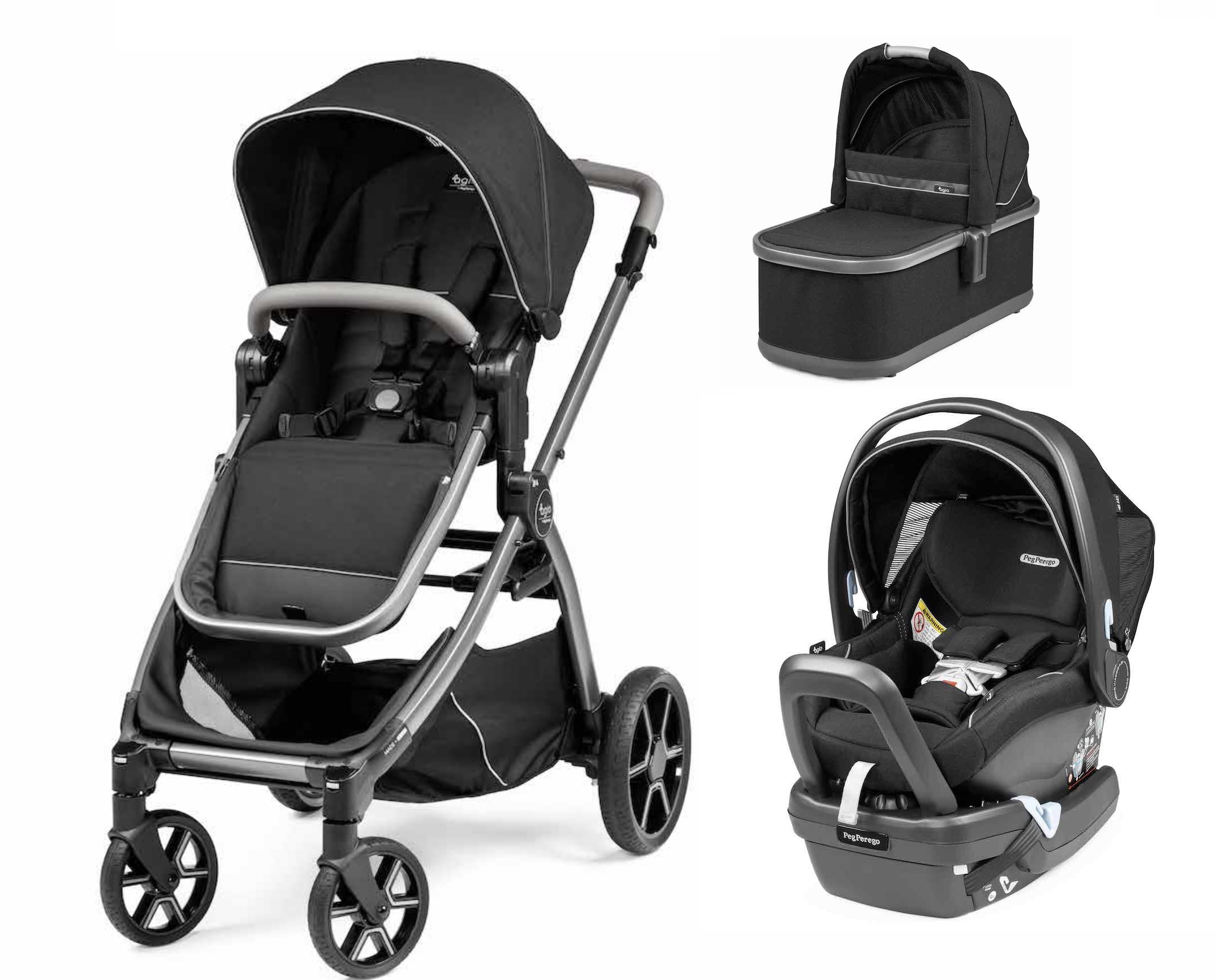Agio Z4 Stroller and Bassinet Travel System - Black Pearl