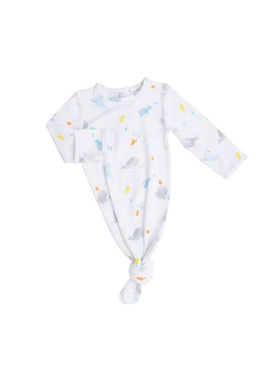 Angel Dear Baby Shark Knotted Gown - 0-3 Months