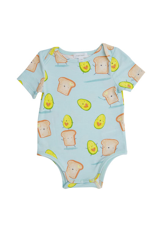 Angel Dear Avocado + Toast Blue Bodysuit - 3-6 Months