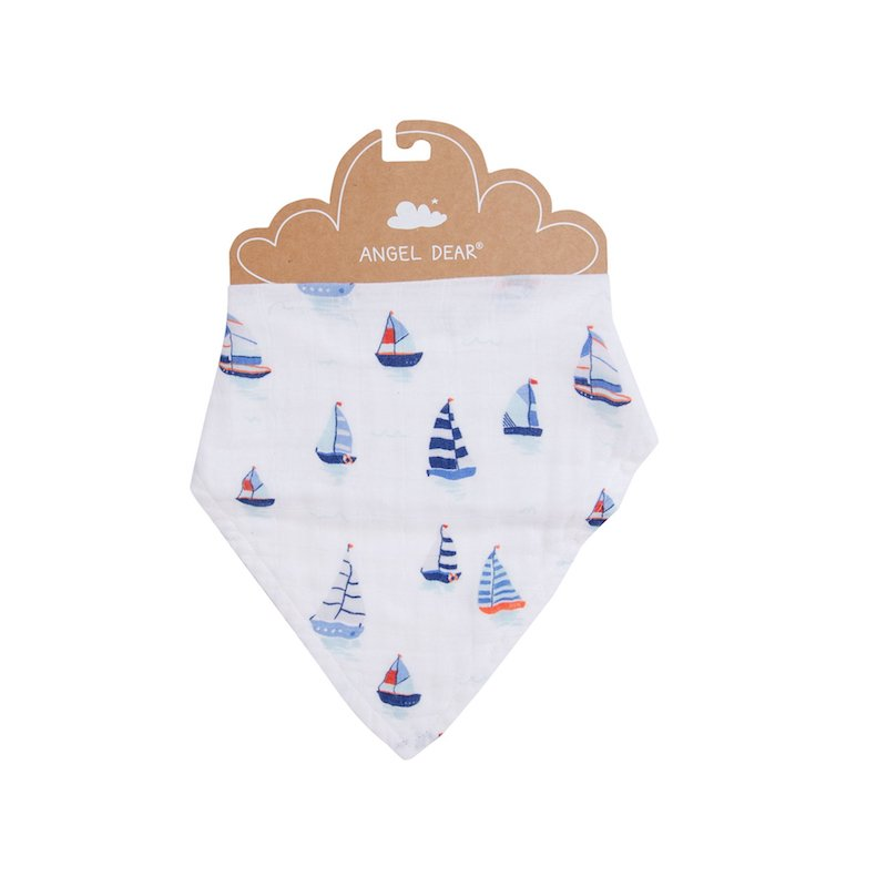 Angel Dear Nautical Boats Bandana Bib