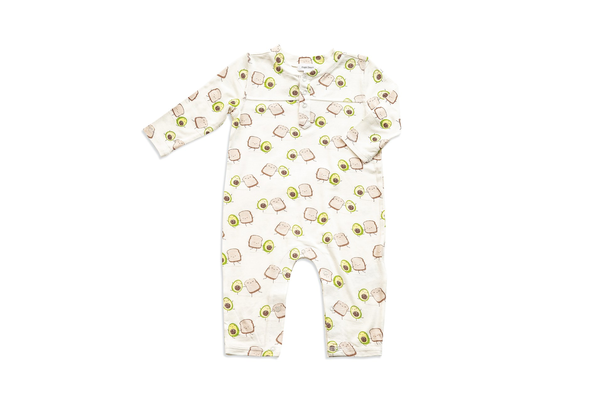Angel Dear Avo Toast Romper in 6-12 Months