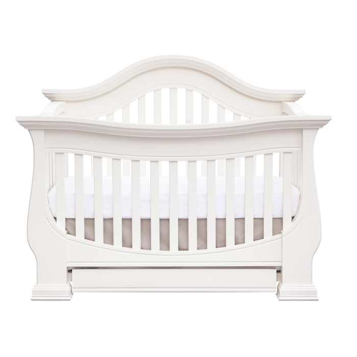 Baby Appleseed Davenport Crib - Pure White