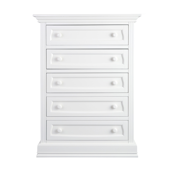 Baby Appleseed Davenport 5 Drawer Chest, Pure White