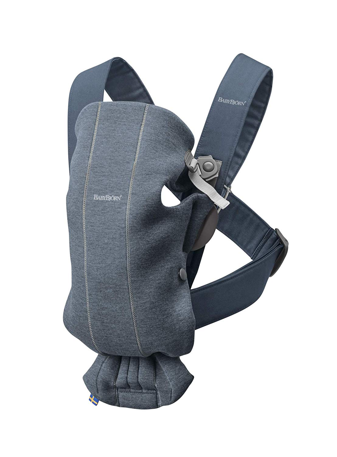 Baby Bjorn Mini Carrier in Dove Blue 3D Jersey Fabric