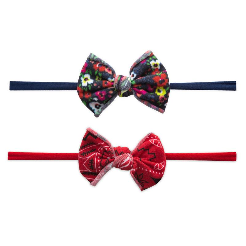 Baby Bling Bows Mini Skinny Print 2 Pack - Bright Summer