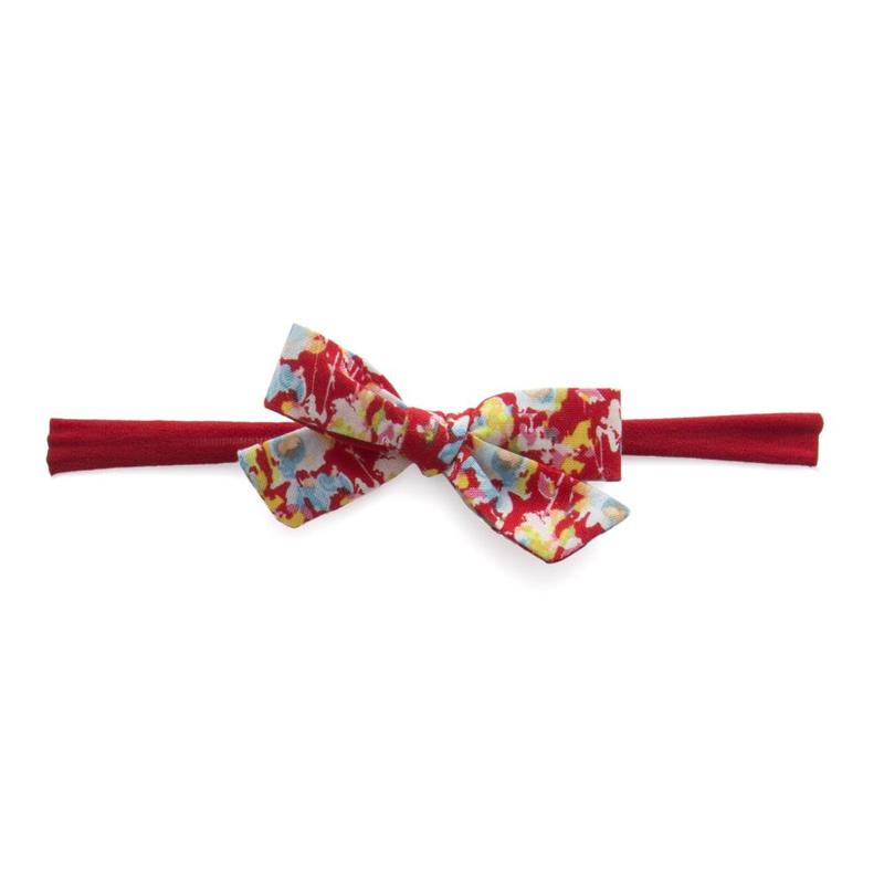 Baby Bling Bows Cotton Print Bow Red Floral