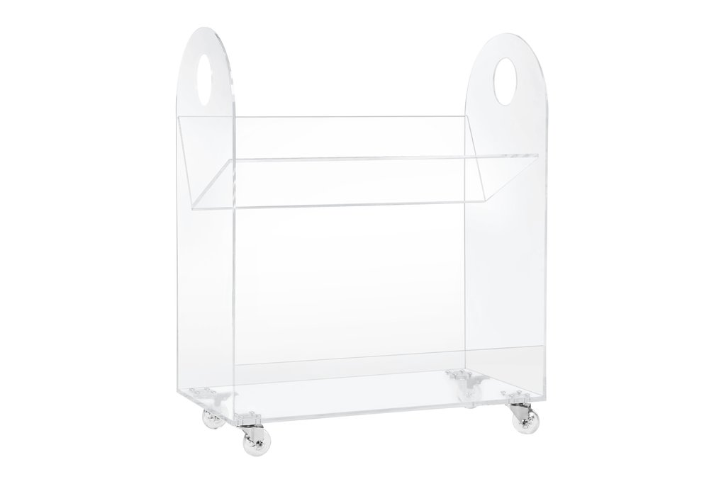 BabyLetto Presto Acrylic Bookcase and Cart