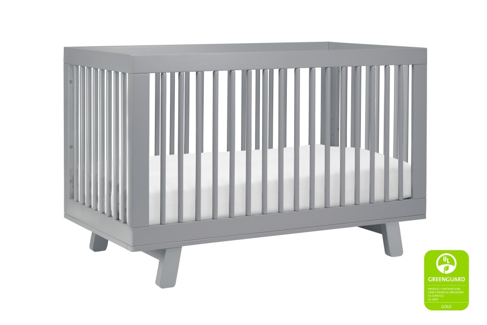 Babyletto Hudson 3 in 1 Convertible Crib, Grey