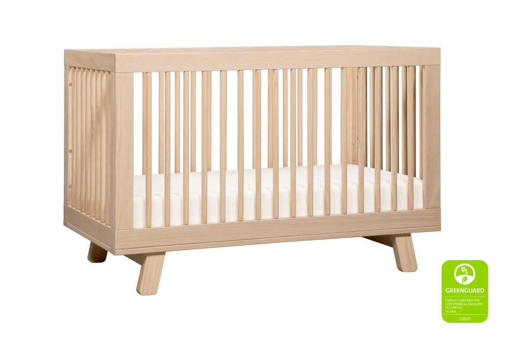 Babyletto Hudson 3 in 1 Convertible Crib, Washed Natural