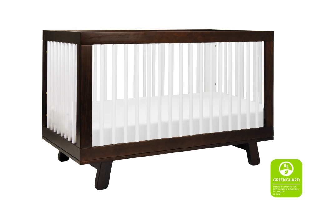 Babyletto Hudson 3 in 1 Convertible Crib, Espresso / White