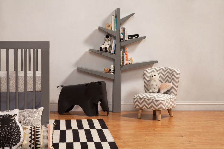 BabyLetto Spruce Tree Bookcase, Grey
