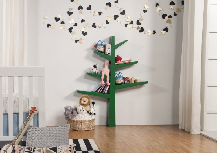 BabyLetto Spruce Tree Bookcase, Green
