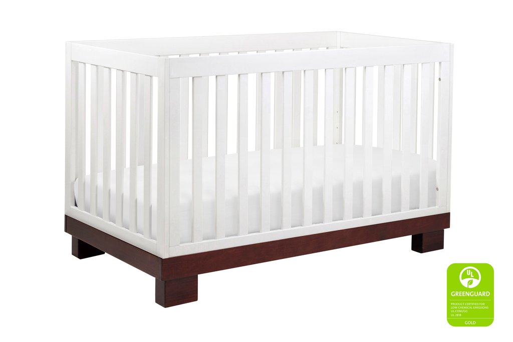 BabyLetto Modo 3-in-1 Convertible Crib - Espresso / White