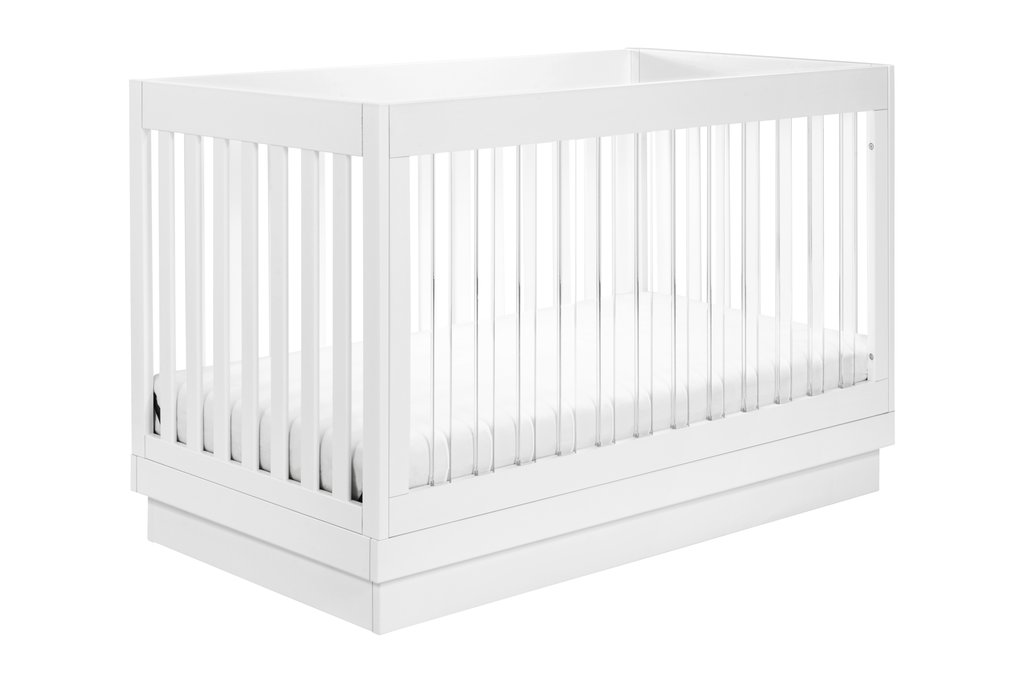 BabyLetto Harlow 3-in-1 Convertible Crib - White / Acrylic