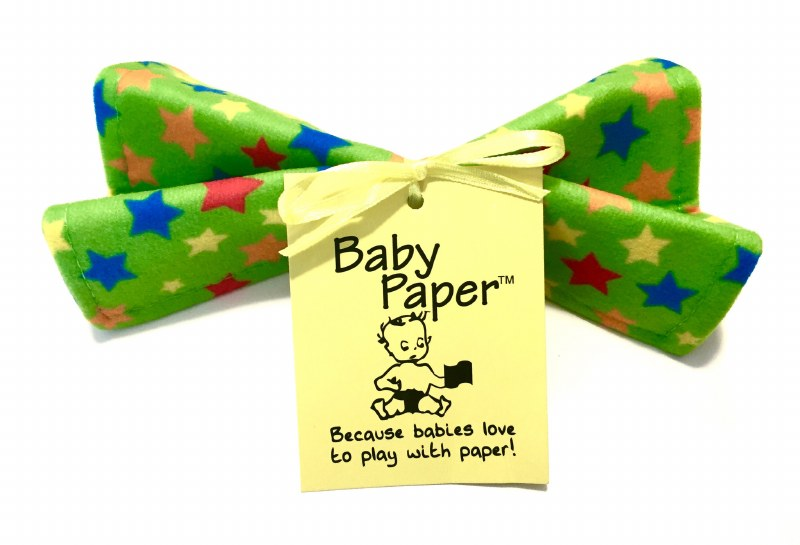 Baby Paper Crinkly Baby Toy - Green Stars