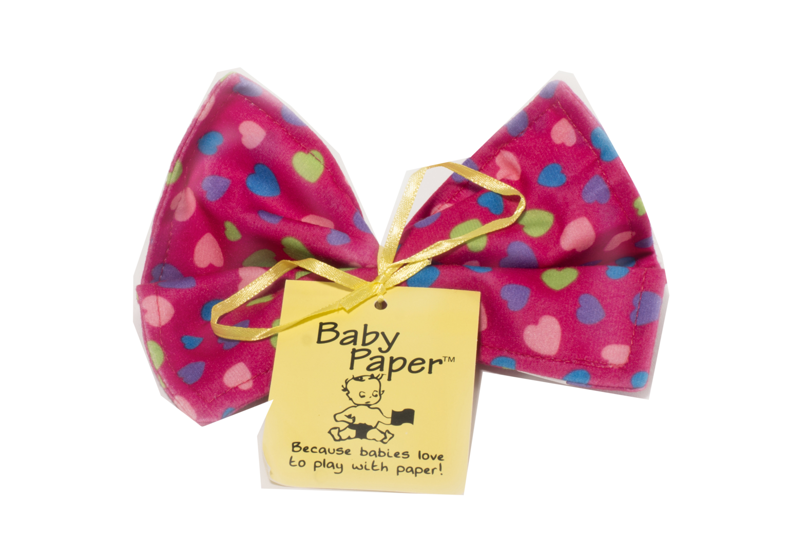 Baby Paper Crinkly Baby Toy - Pink Heart