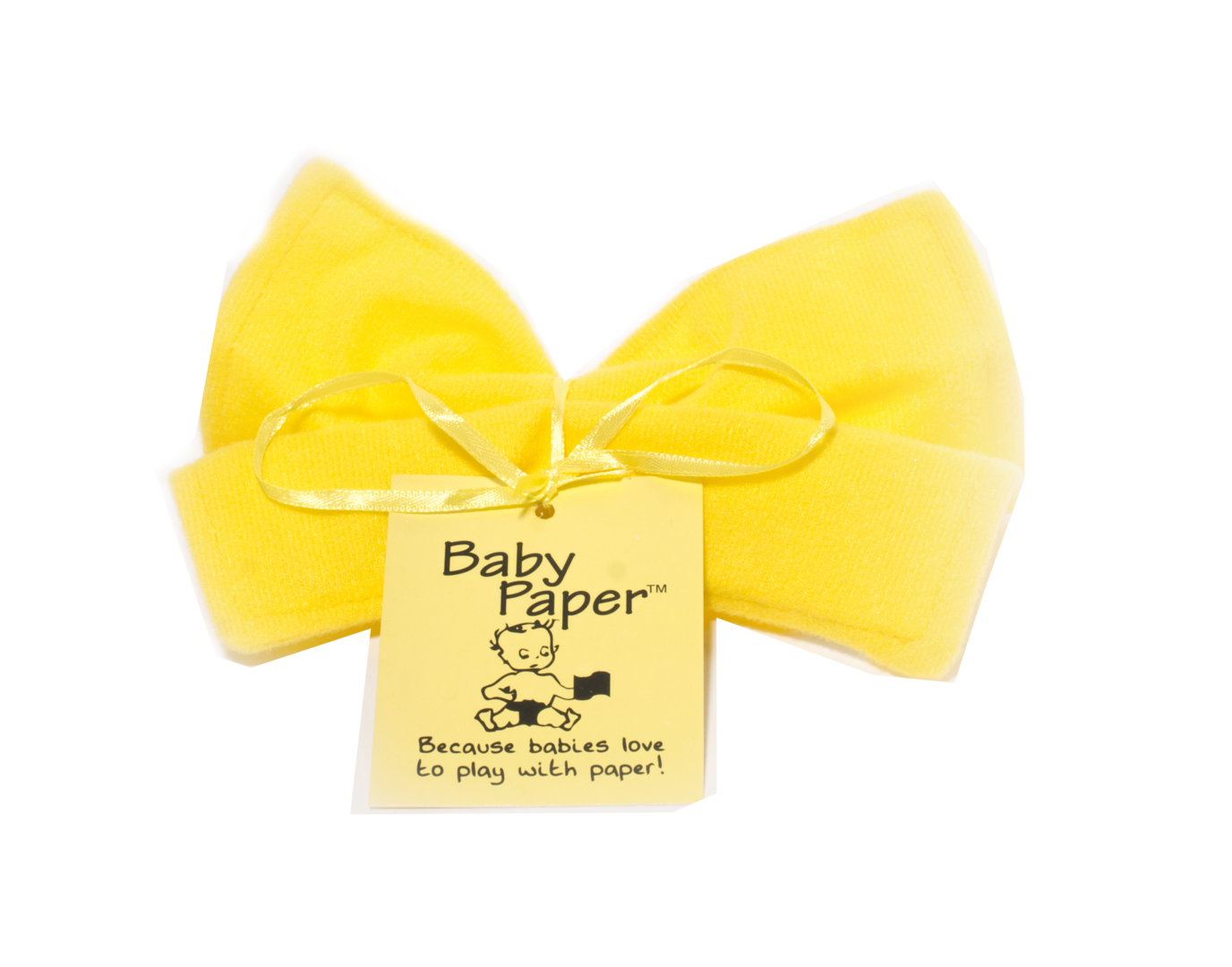 Baby Paper Crinkly Baby Toy - Yellow