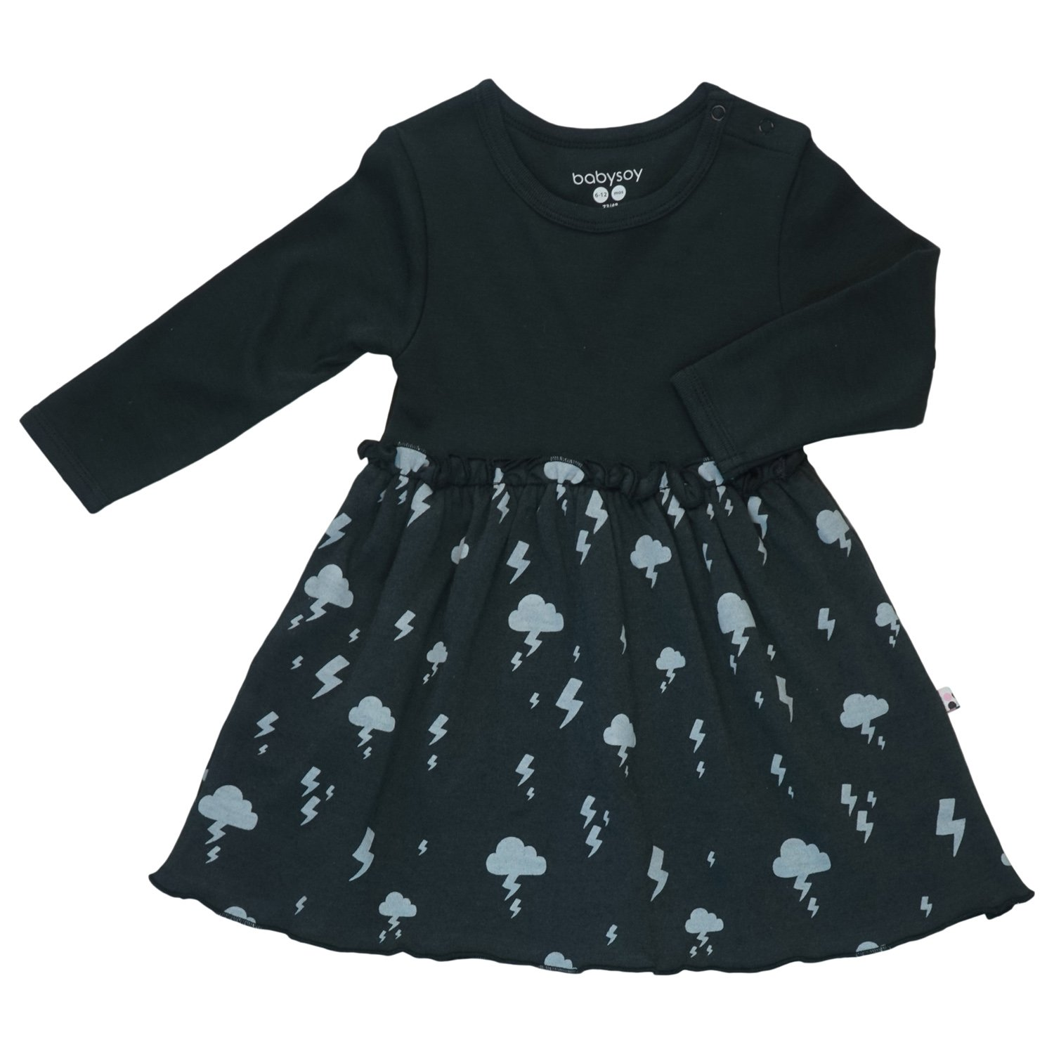 BabySoy Lightning Twirl Dress - 12-18 Months