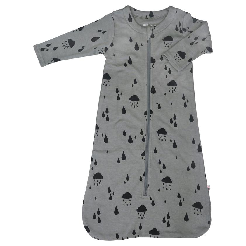 BabySoy Long Sleeve Sleep Sack Rain / Thunder - 3-6 Months