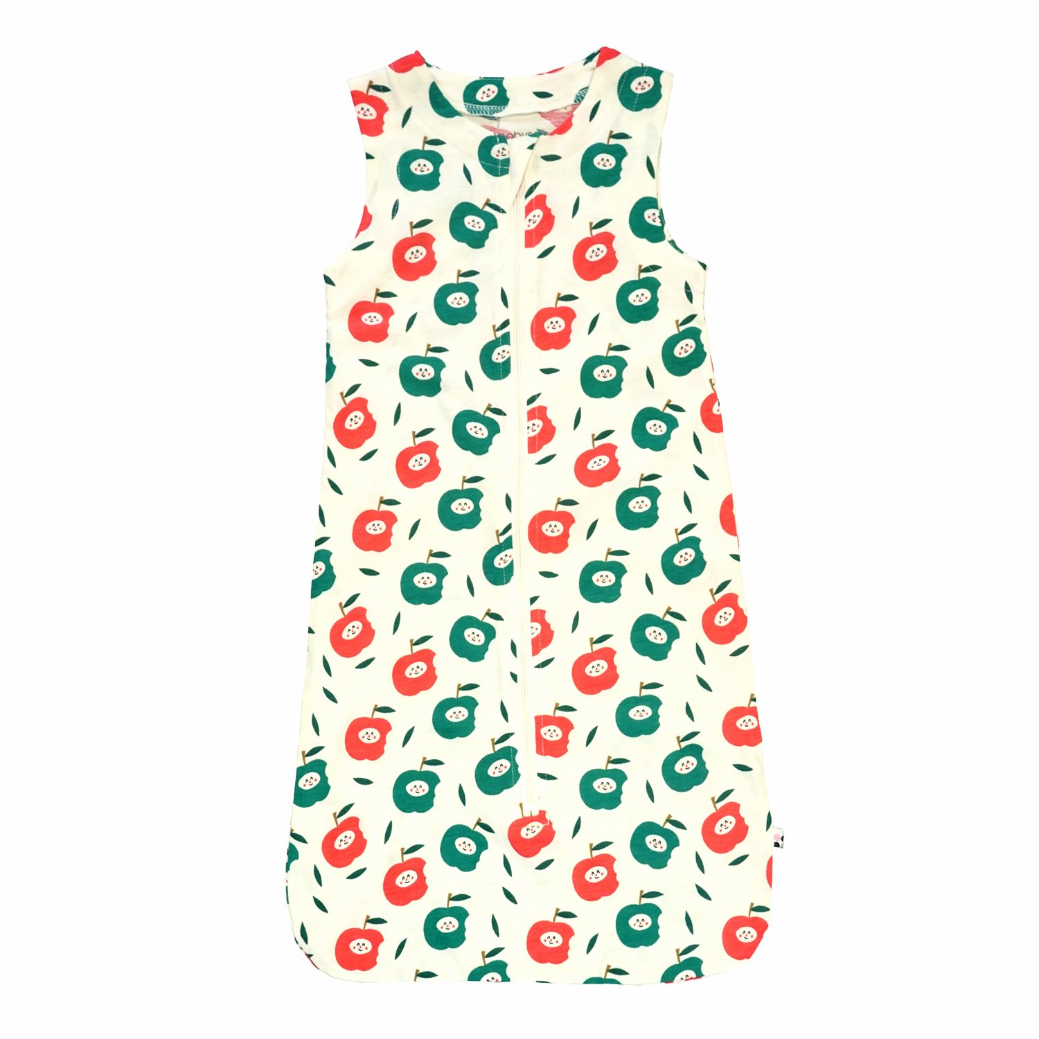 BabySoy Sleeveless Sleep Sack Apples - 0-6 Months