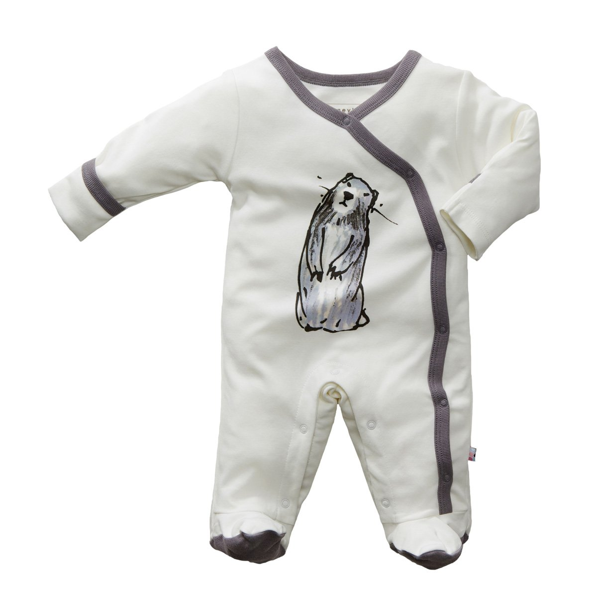BabySoy Janey Baby Marmot Footie in 0-3 Months