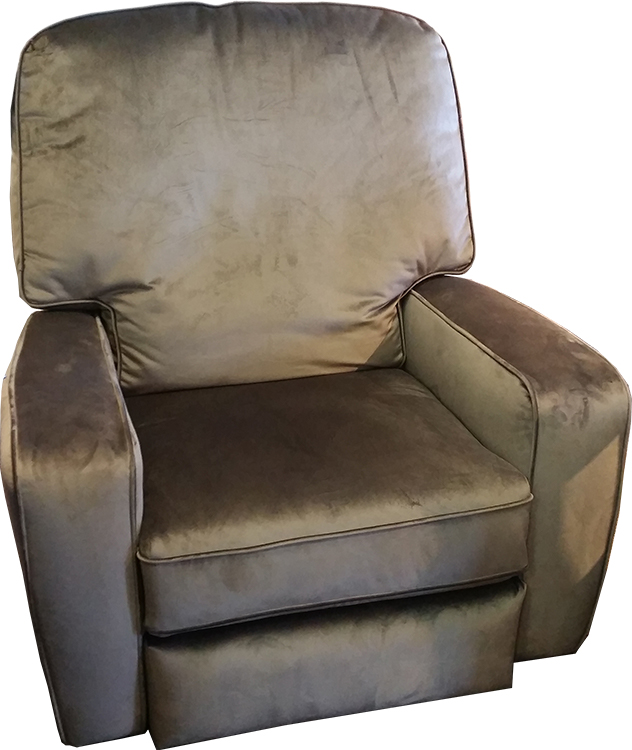 Best Chairs Amsterdam Recliner in Caviar Microfiber