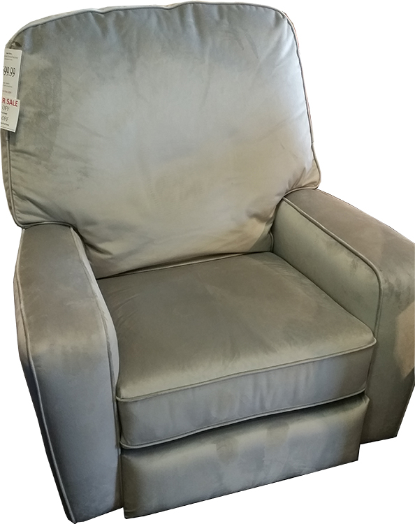 Best Chairs Amsterdam Recliner in Dove Grey Microfiber