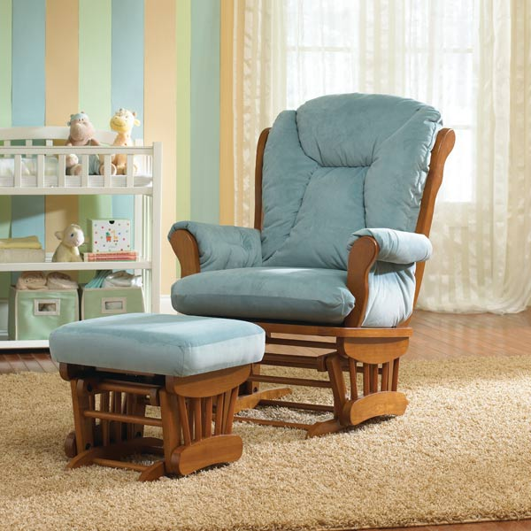 Best Chairs Libson Wooden Glider and Ottoman Co-Pack