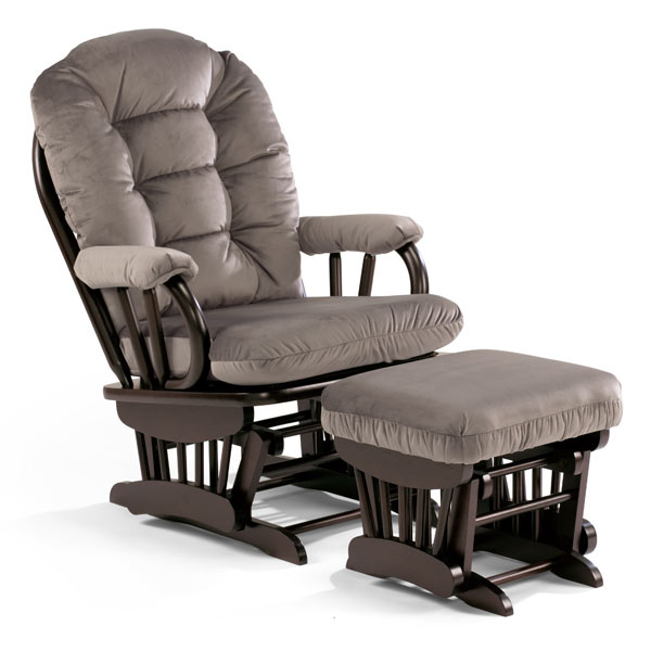 Best Chairs Monaco Wooden Glider & Ottoman Co-Pack