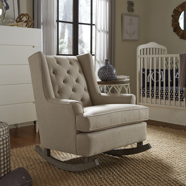 Best Chairs Wales Tufted Wingback Rocking Chair
