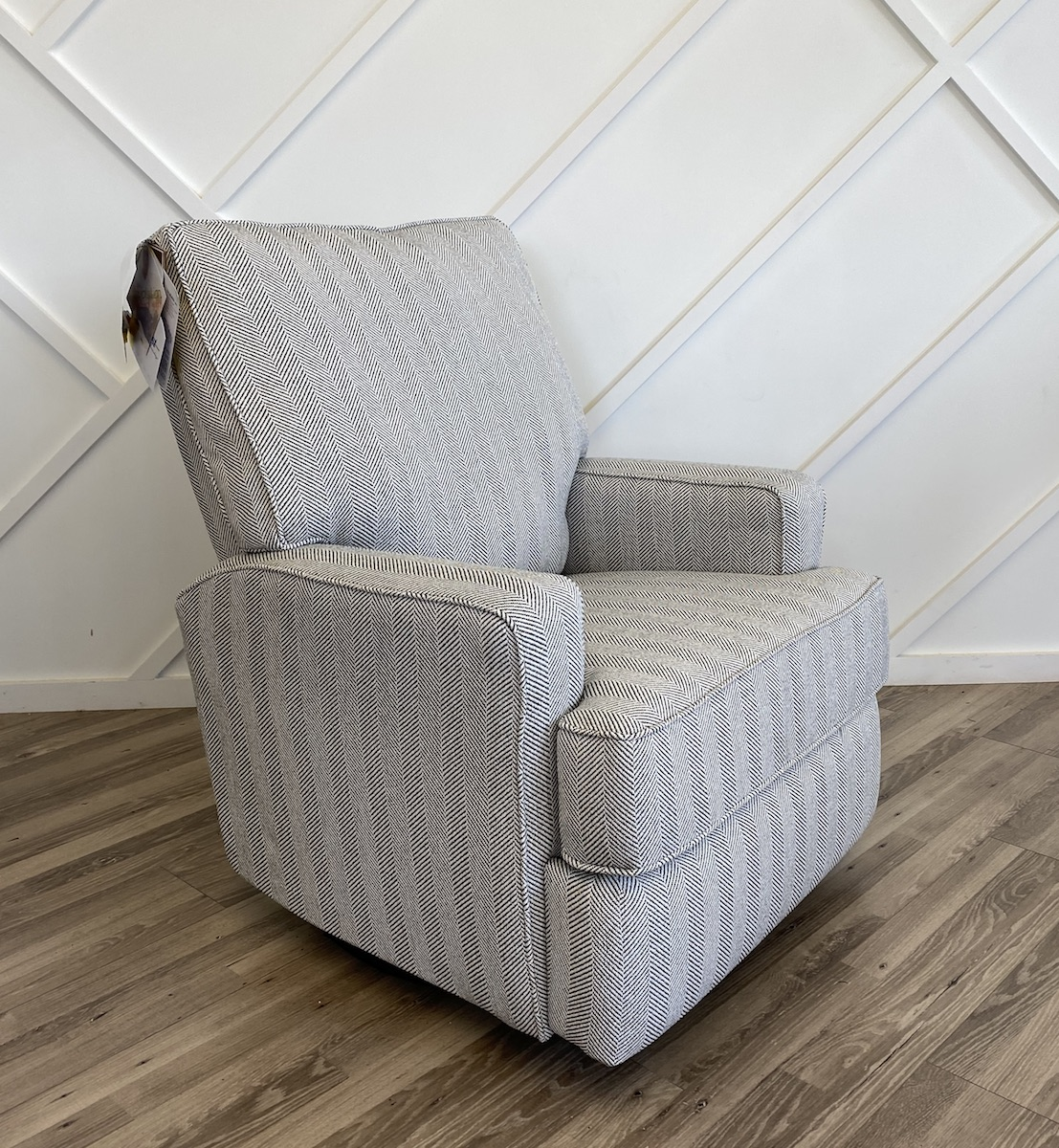 Best Chairs Kersey Swivel Glider Recliner in Salt & Pepper