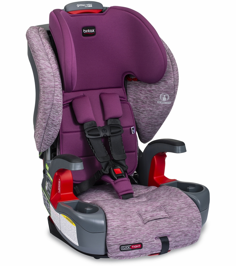 Britax Grow With You ClickTight Booster Seat in Mulberry