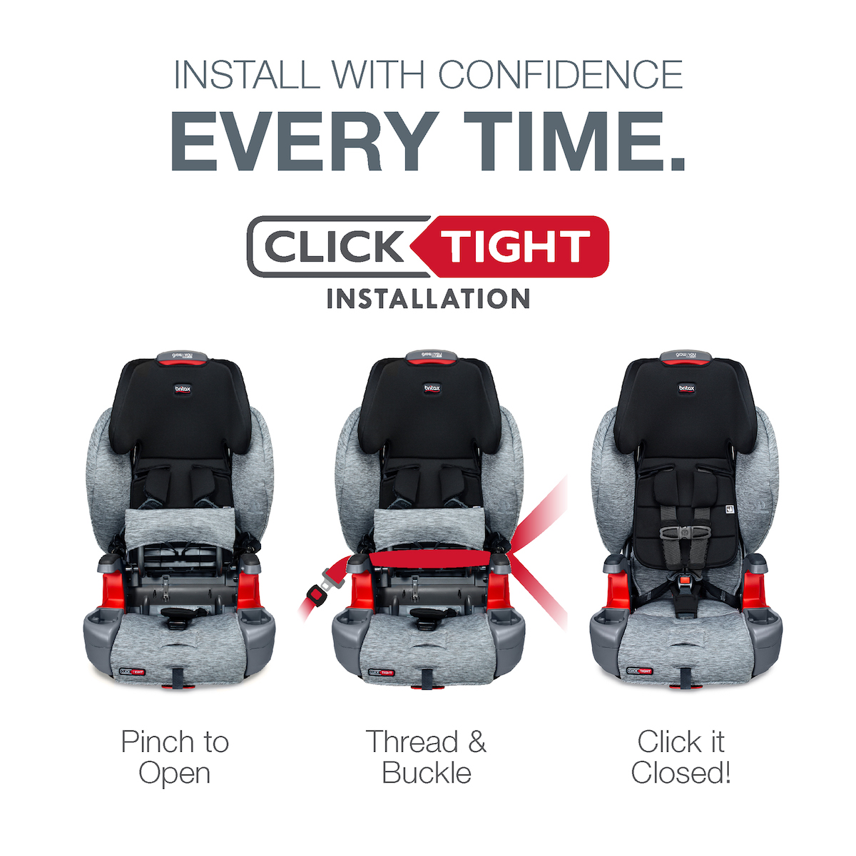 Britax Grow With You ClickTight Booster Car Seat - Clean Comfort