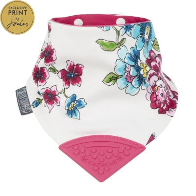 Cheeky Chompers Neckerchew Teething Bib, Anna Floral