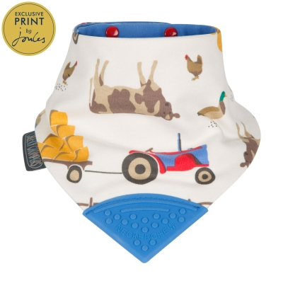 Cheeky Chompers Neckerchew Teething Bib, Farmer Joules