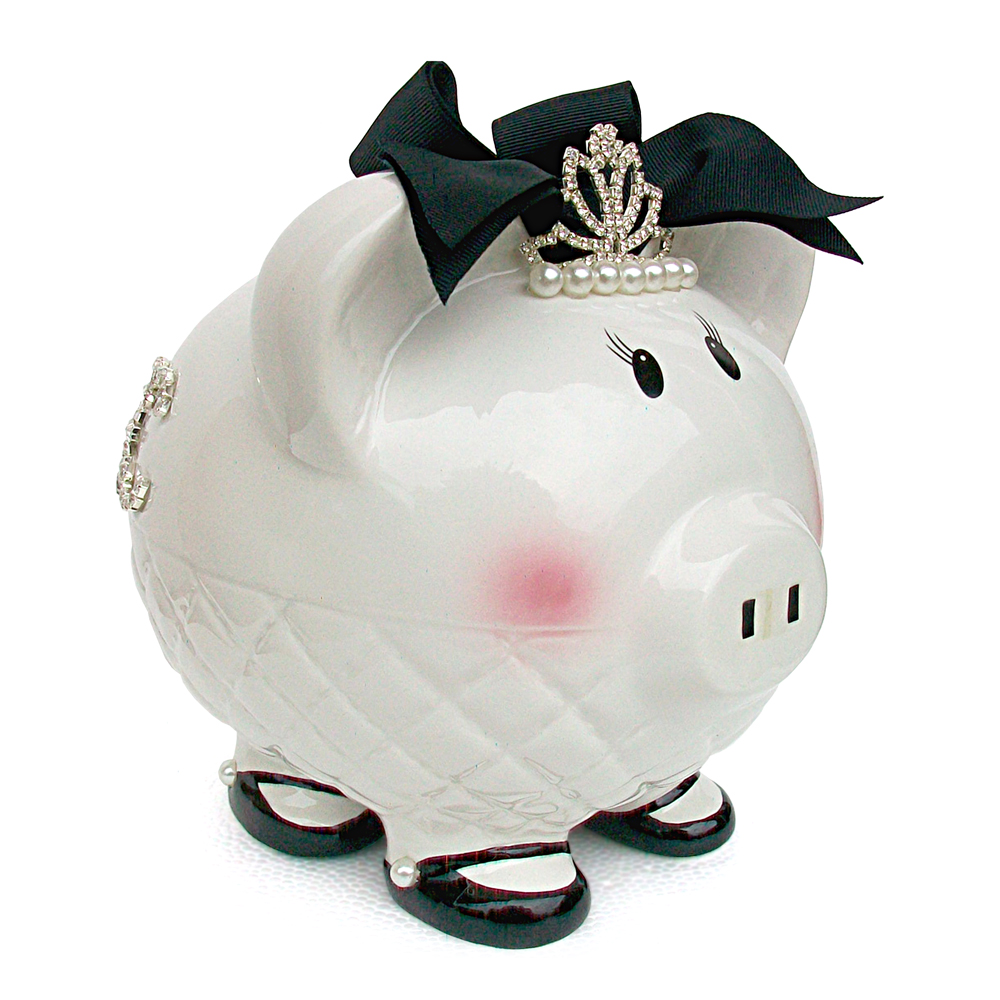 Child to Cherish Queen B Ceramic Piggy Bank