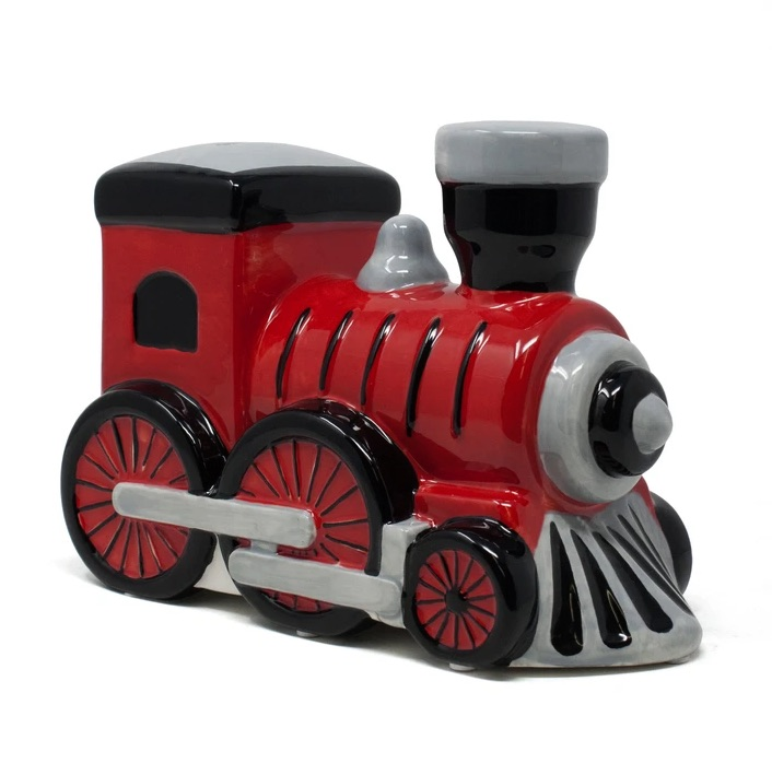 Child to Cherish Money Train Piggy Bank - Red