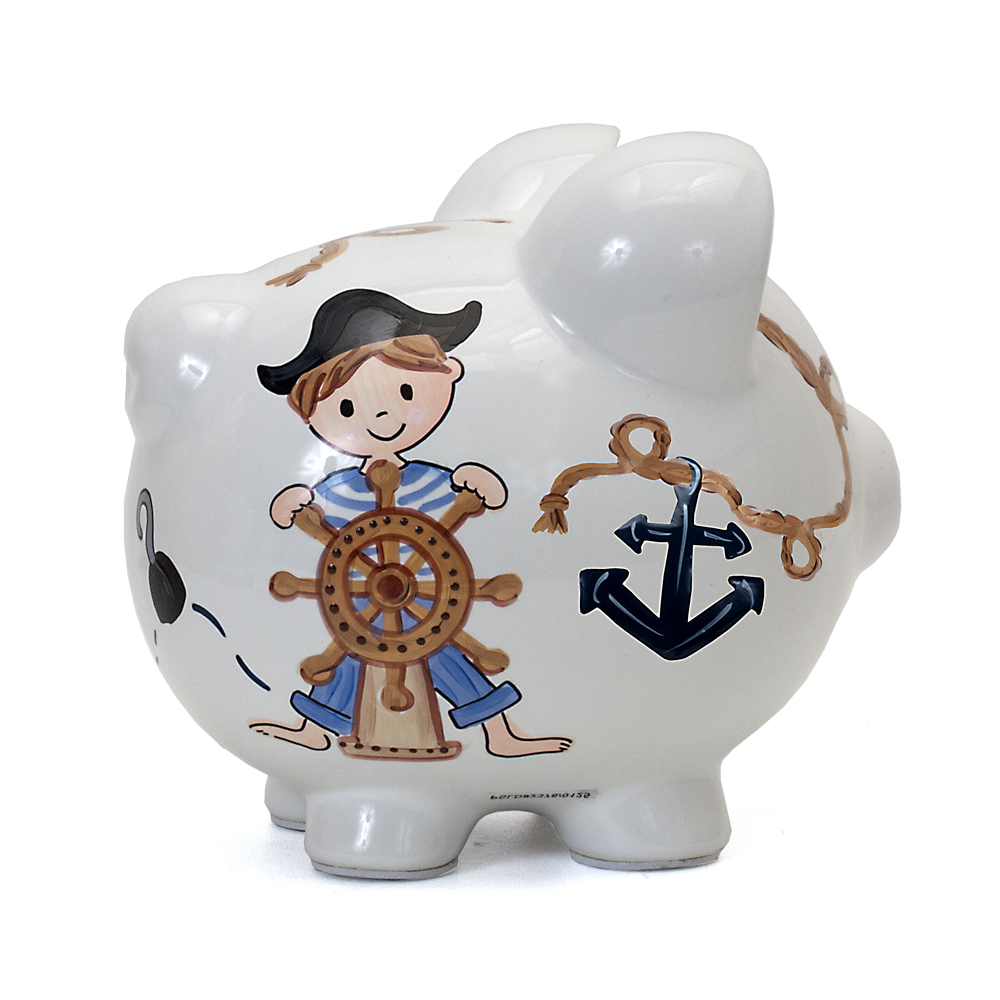 Child to Cherish Pirate Piggy Bank