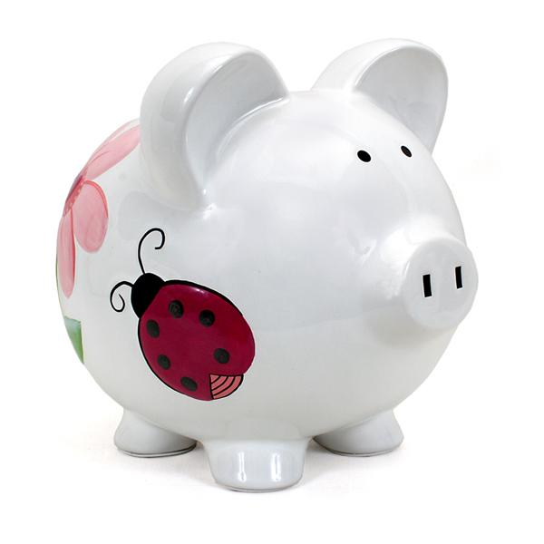 Child to Cherish Lady Bug Piggy Bank