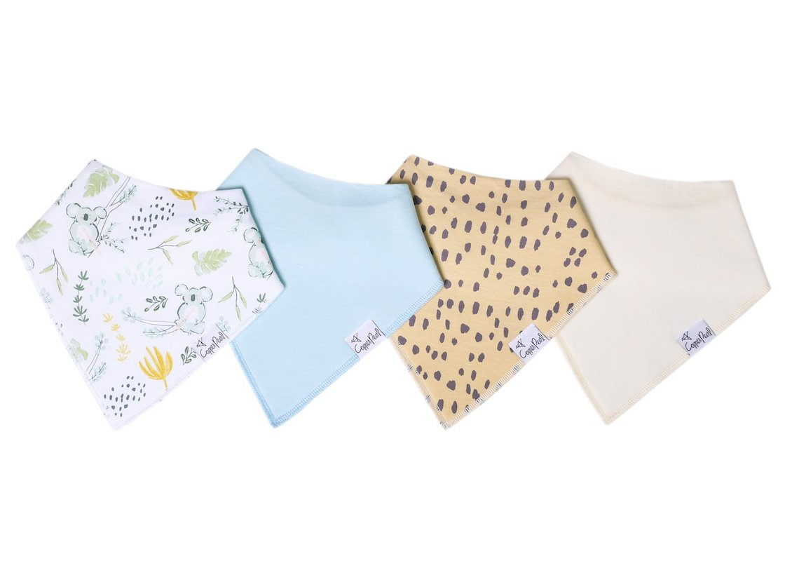 Copper Pearl Aussie Bandana Bib Set