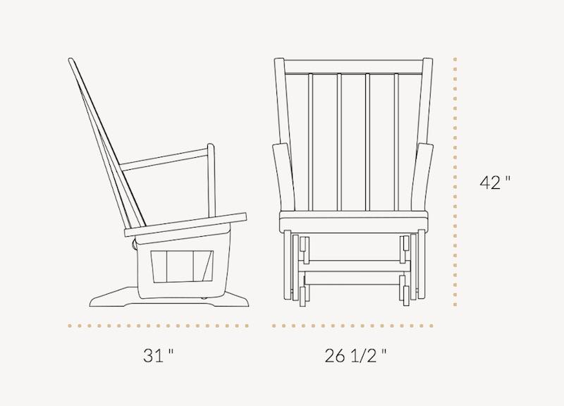 Dutailier Classic 827 Modern Chair Destination Baby Amp Kids