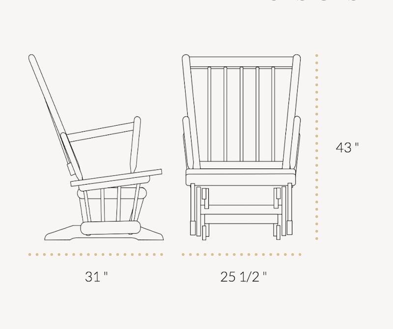 Dutailier Classic 829 Two Post Chair Destination Baby Amp Kids